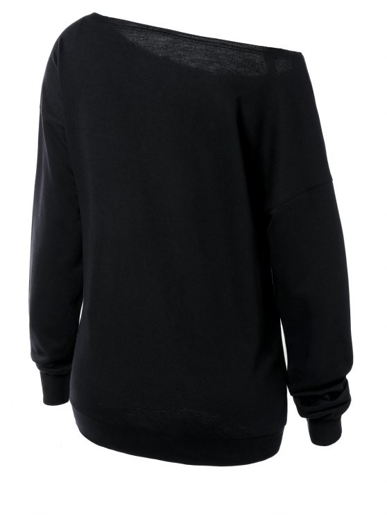 Witches Halloween Sweatshirt - BLACK L Mobile