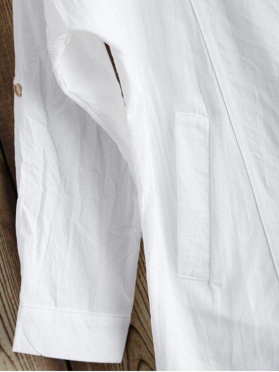 Lapel Blazer - WHITE M Mobile
