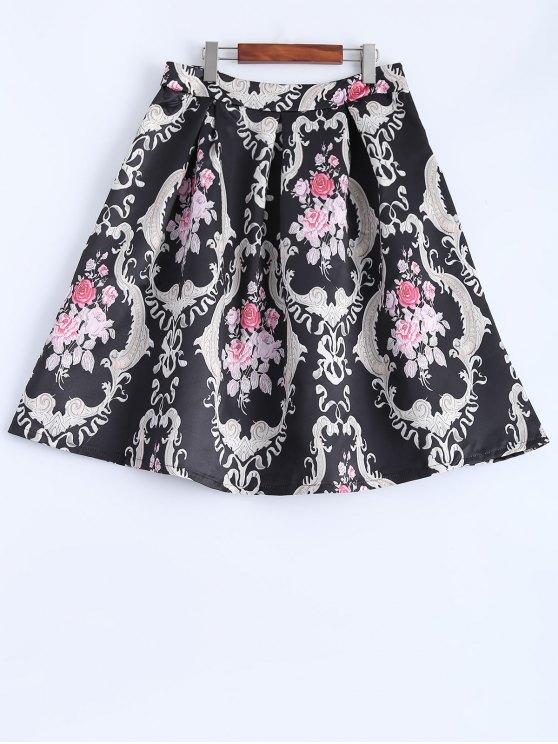 best Pleated Midi Skirt - BLACK S