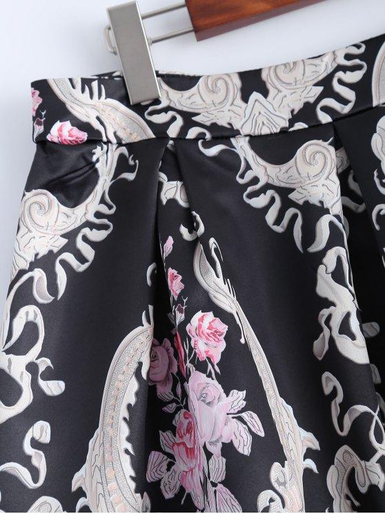 Pleated Midi Skirt - BLACK S Mobile