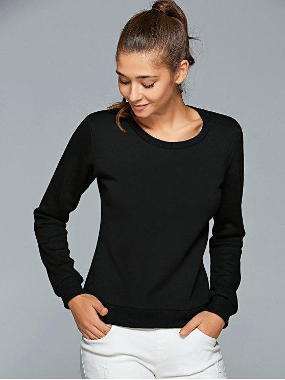 Letter Print Gym Sweatshirt - BLACK L Mobile