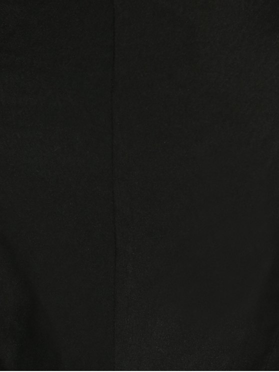 High Slit Bandeau Jumpsuit and Cape - BLACK L Mobile