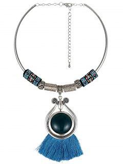 Tassel Ethnic Torques - Blue