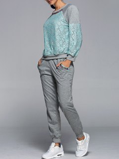 Sweatshirt With Pants Twinset - Green S