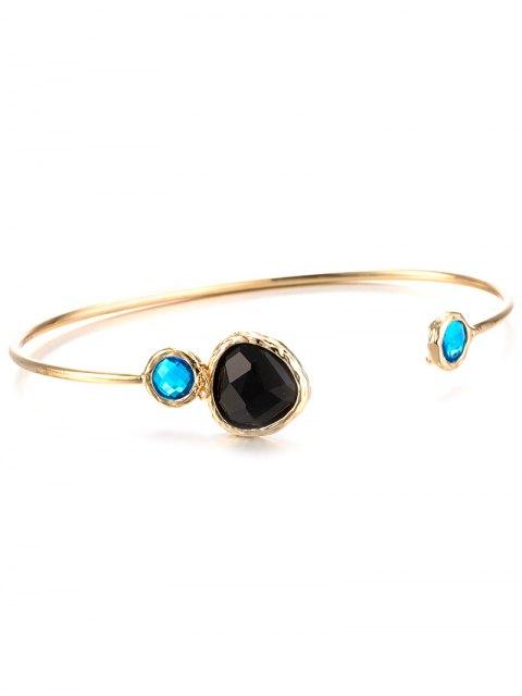 womens Alloy Faux Sapphire Cuff Bracelet -   Mobile
