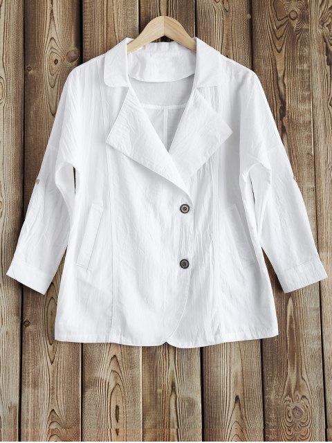 fashion Lapel Blazer - WHITE M Mobile