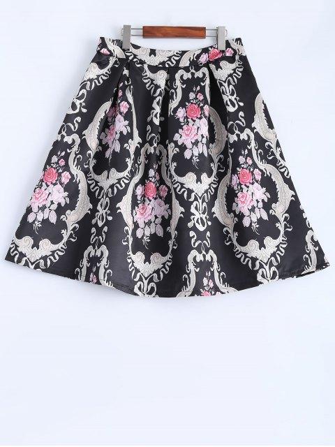 best Pleated Midi Skirt - BLACK S Mobile