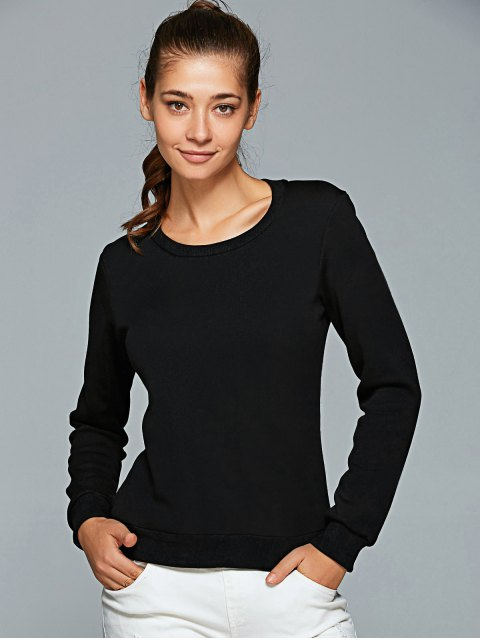 hot Letter Print Gym Sweatshirt - BLACK M Mobile