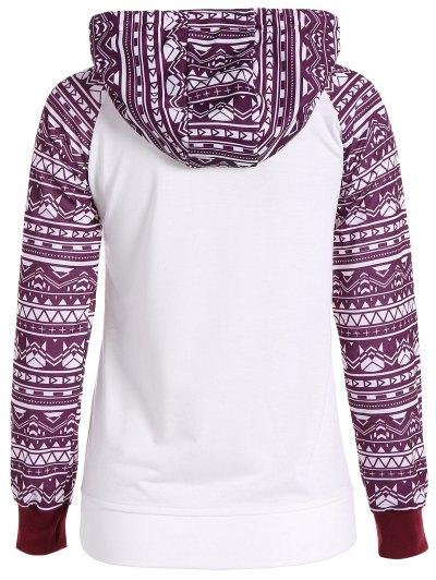 Big Pocket Pullover Printed Hoodie - WHITE M Mobile