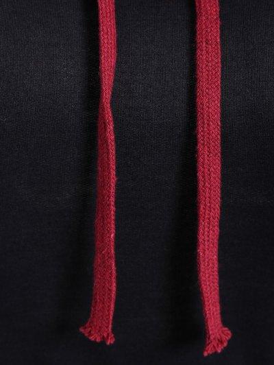 Big Pocket Pullover Printed Hoodie - BLACK XL Mobile