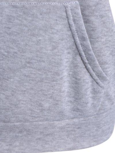 Skew Neck Graphic Sweatshirt - GRAY S Mobile