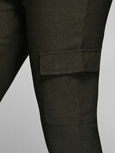 Casual Multiple Pockets Pants - ARMY GREEN M Mobile
