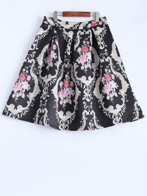 Pleated Midi Skirt - Black