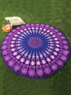 Serviette de plage ronde à motifs arabiques