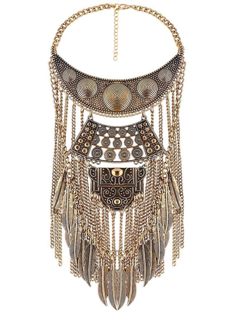 Tassel Fake Collar Necklace