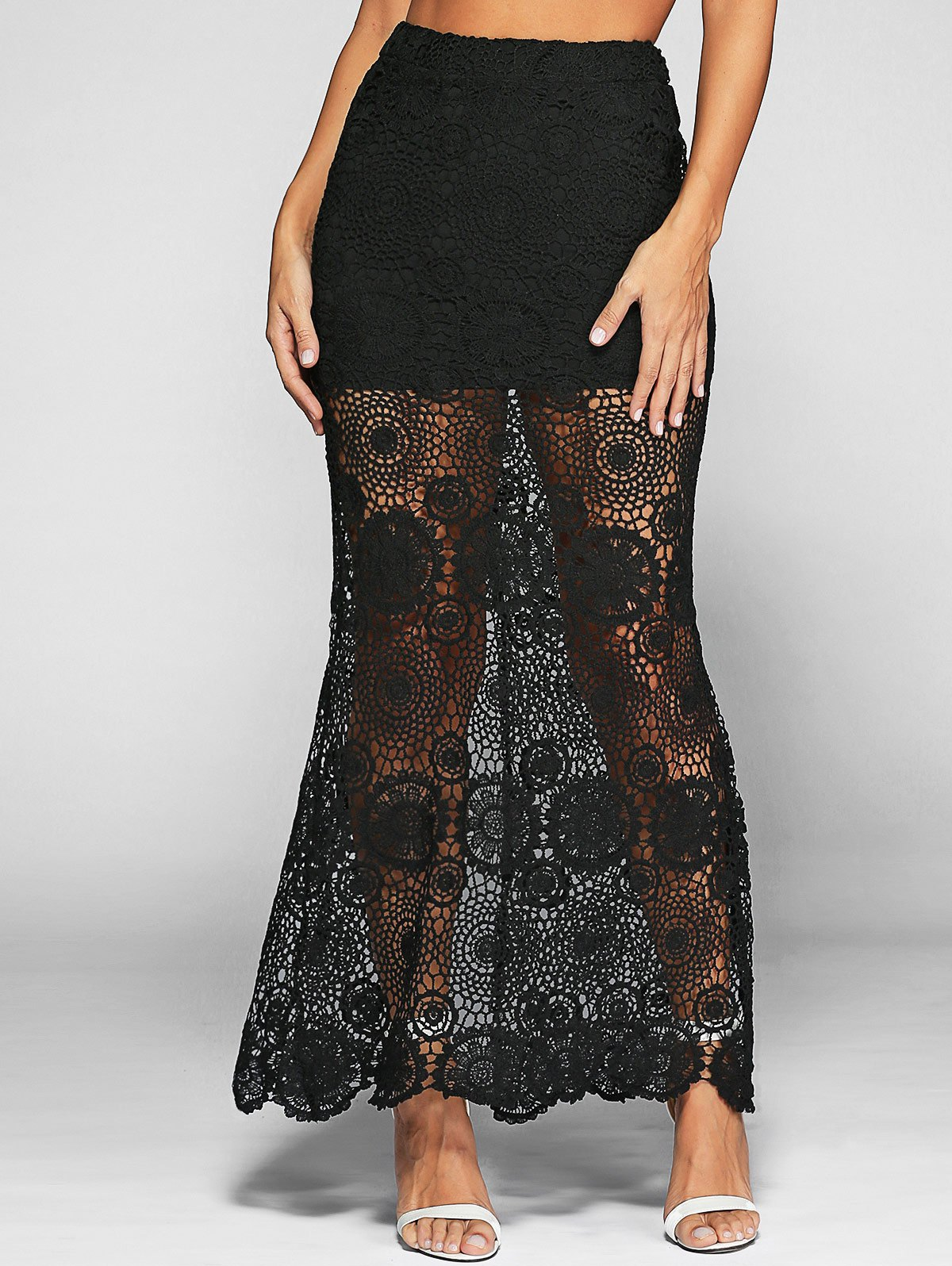 See-Through Lace Skirt