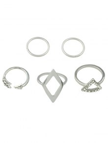 Alloy Rhinestone Triangle Jewelry Set Rings