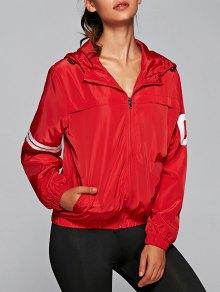 Buy Zip Hooded Jacket - RED 3XL