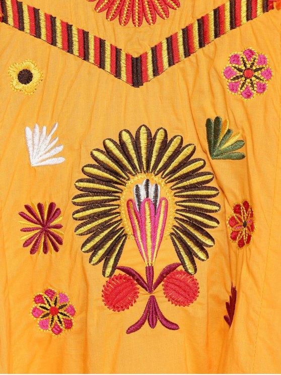 Embroidered Smock Dress - GINGER S Mobile