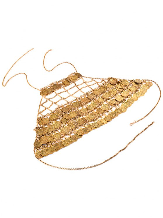 Tiered Coins Body Chain - GOLDEN  Mobile