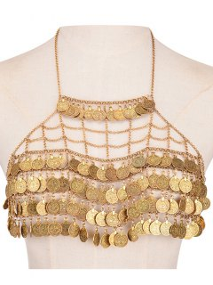 Tiered Coins Body Chain - Golden