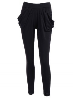 Work Harem Pants - Black L