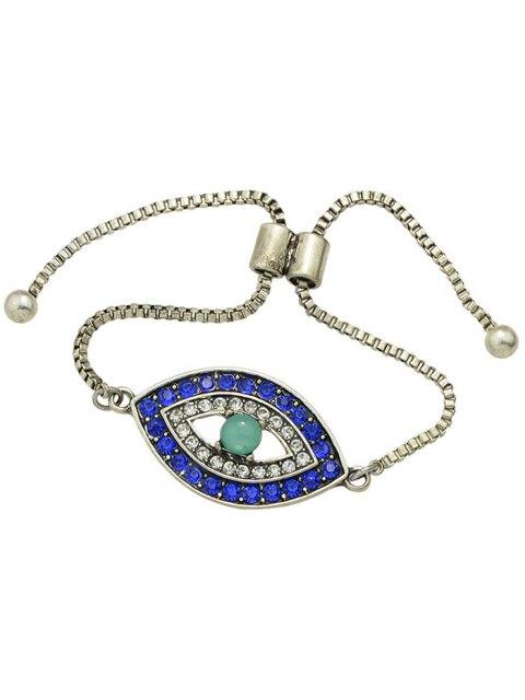unique Rhinestone Alloy Eye Shape Bead Bracelet - SILVER  Mobile