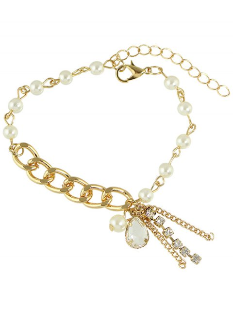 affordable Artificial Pearl Water Drop Charm Bracelet -   Mobile