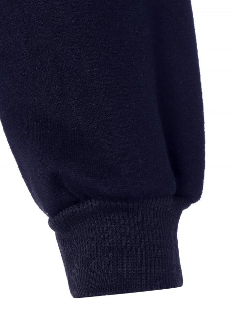 fancy Long Sleeve Patch Design Sweatshirt - DEEP BLUE M Mobile