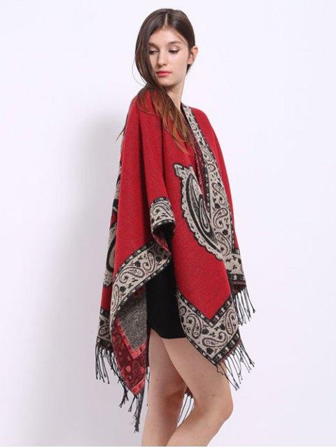 outfits Vintage Floral Design Tassel Pashmina Scarf -   Mobile