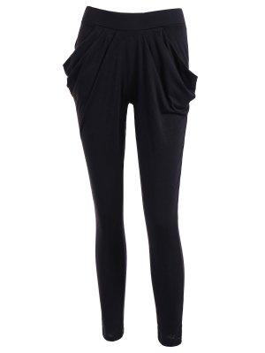 Work Harem Pants - Black