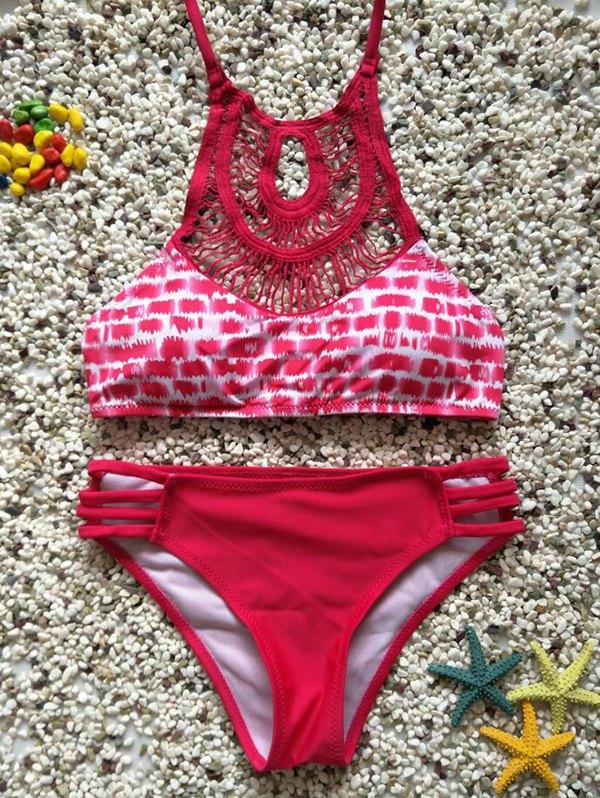 Cutout High Neck Bikini