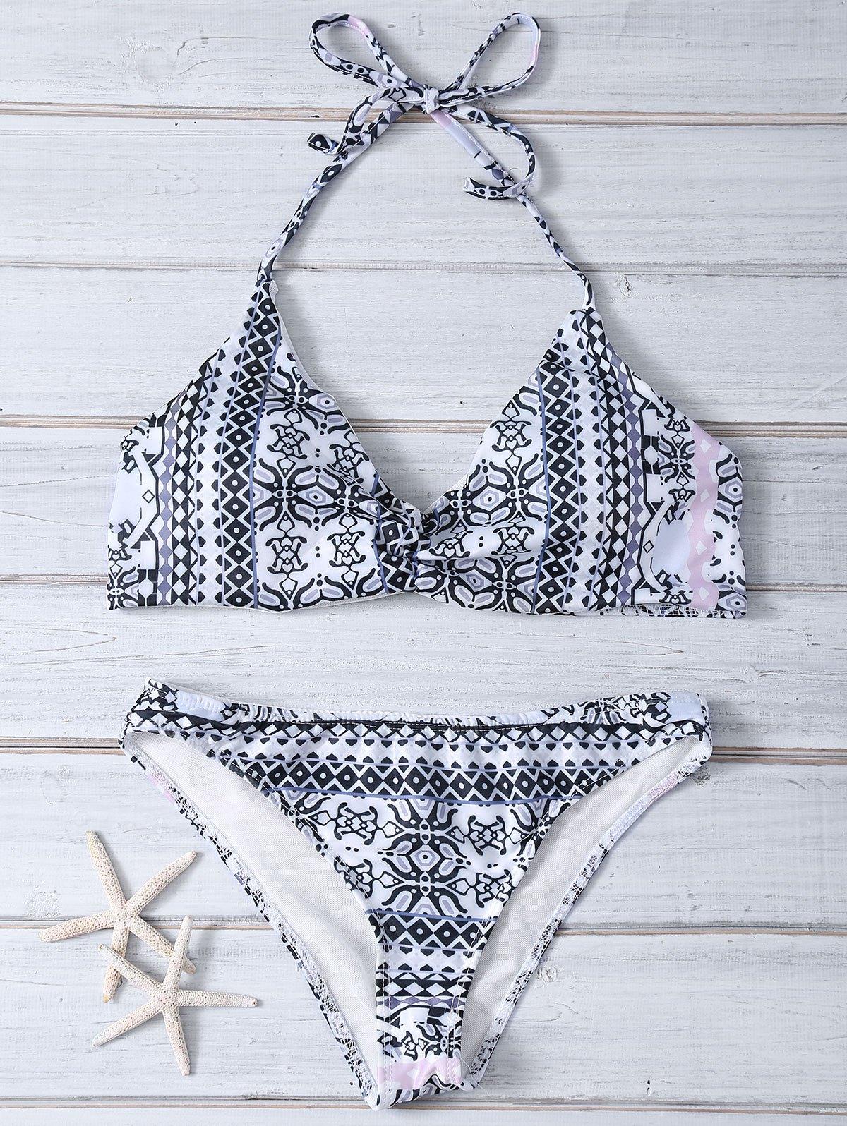 Halter Printed Bikini Set