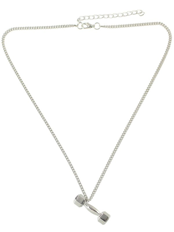 Alloy Barbell Shape Pendant Necklace