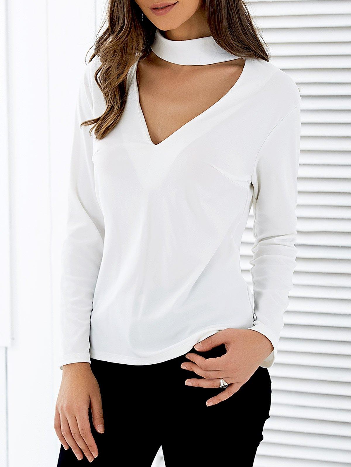 Long Sleeve Cutout T-Shirt
