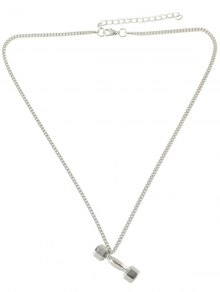 Barbell Shape Alloy Pendant Necklace