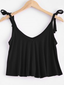V Neck Self Tie Tank Top
