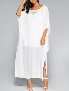 High Slit Batwing Sleeve Kaftan Dress and Cami Top
