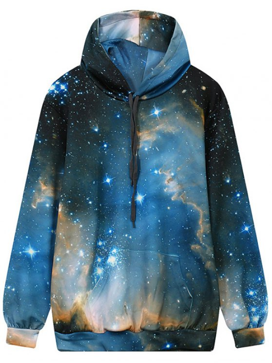 Avant Drawstring Galaxy Hoodie Pocket - Multi L