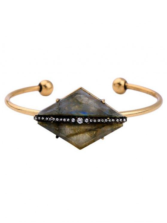 Rhombus Pierre Cuff Bracelet - Or