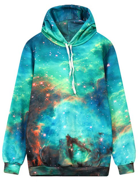 shops Front Pocket Galaxy Hoodie - MULTI M Mobile