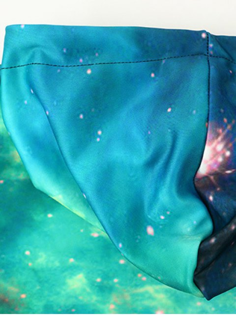 shop Front Pocket Galaxy Hoodie - MULTI L Mobile