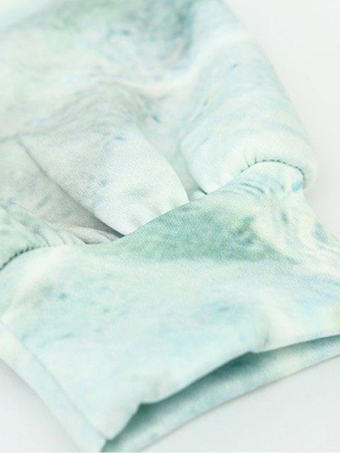 sale Wave Pattern Front Pocket Outerwear Hoodie - OCEAN BLUE L Mobile