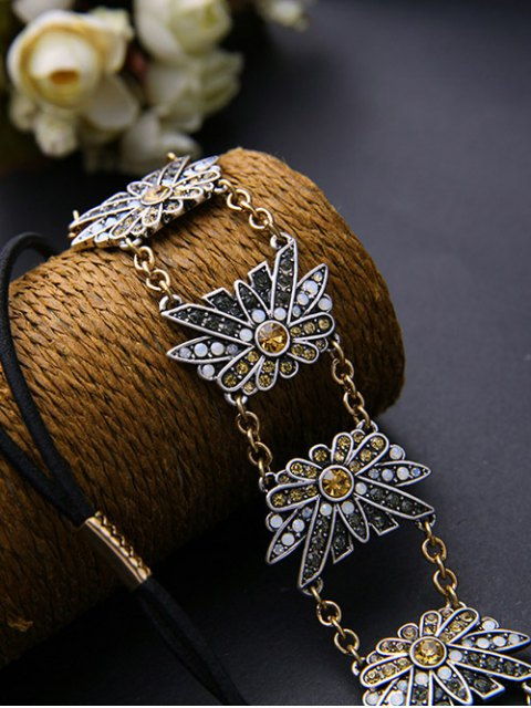 chic Rhinestone Bowknot Headband - COLORMIX  Mobile