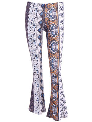 Mid Rise Bell Bottoms Pants