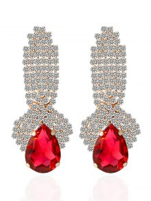 Rhinestoned Faux Crystal Drop Earrings
