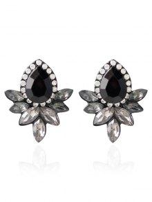 Water Drop Rhinestone Artificial Crystal Earrings