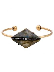 Rhombus Stone Cuff Bracelet
