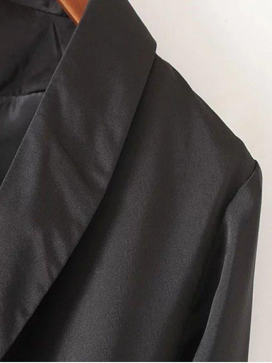Embroidered Back Trench Coat - BLACK L Mobile