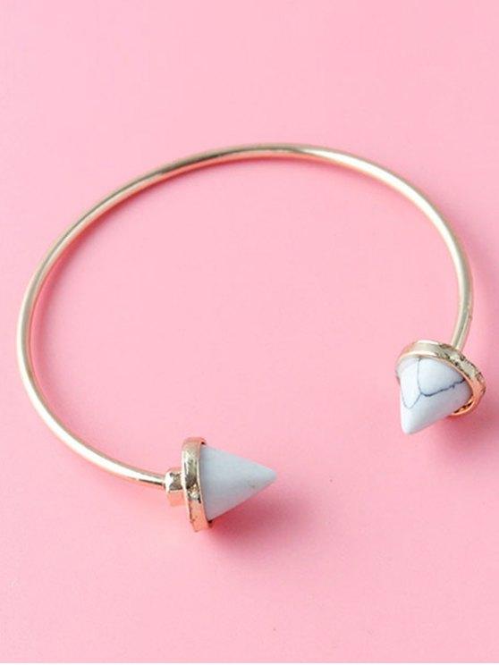 Cone Faux Rammel Boho Jewelry Bracelet - WHITE  Mobile